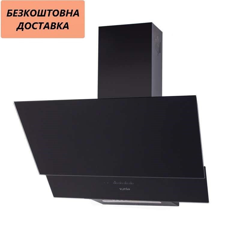 Кухонная вытяжка Ventolux RIMINI 60 BK (650) TRC Наклонная, Черная, Стекло