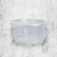 Одноразовая герметичная упаковка для первых блюд ПС-115 350 мл прозрачная 500 шт/уп