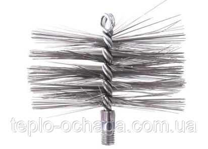 Щетка для чистки дымохода стальная под резьбу (120 мм-500 мм)