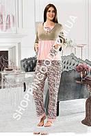 Женская пижама Shirly 5896, домашний костюм с брюками цена со склада