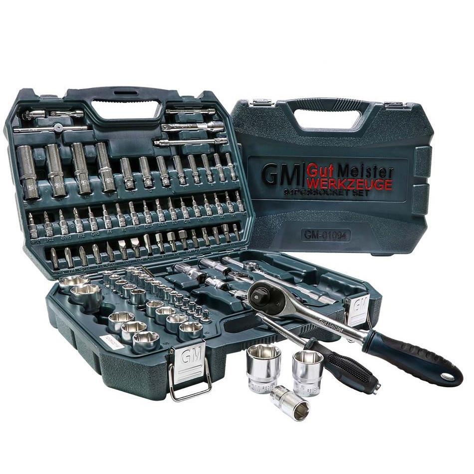 Набор инструментов 1/4, 1/2 94 эл. Gut Meister GM-01094  премиум линейка от Mannesmann (Германия)