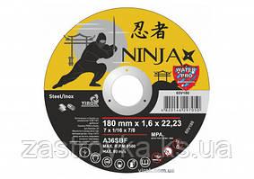 """Круг відрізний по металу і нержавіючої сталі NINJA ТМ """"VIROK"""" Ø=180Х22.23 ММ T=1.6 ММ"""