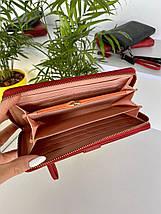 Женский кошелек на молнии Forever Young с визитницей темно-красный КФВ29, фото 3