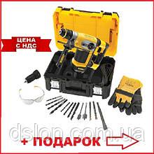 Перфоратор DeWALT D25417KT SDS-Plus, 1000 Bт, 4.2 Дж, бур/коронка - 32/100 мм, 4.3 кг, TSTAK + аксессуары