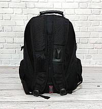 Місткий рюкзак. Чорний з синім. 35L / s6611 blue, фото 2