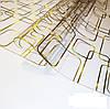 М'яке скло Силіконова скатертину на стіл Soft Glass 2.7х0.8м (Товщина 1.5 мм) Золотисті прямокутники, фото 3