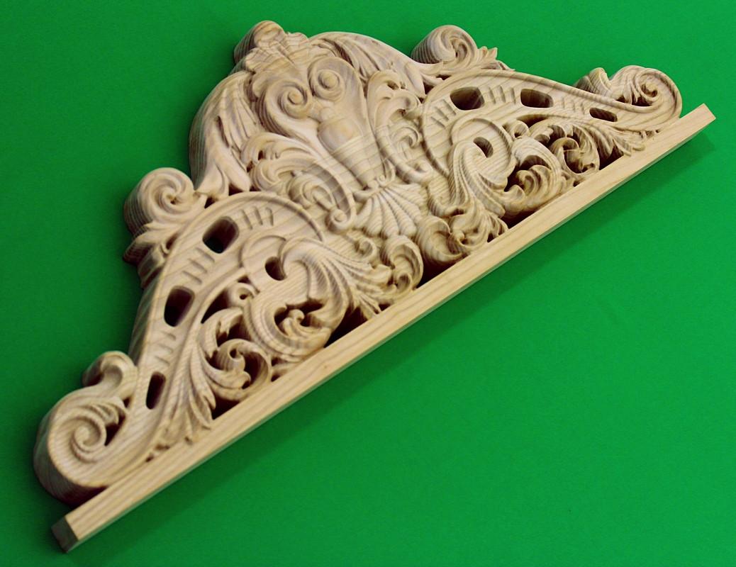 Код КОР6. Деревянный резной декор для мебели. Короны