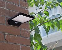 Светодиодная подсветка для стены с датчиком движения на солнечной батареи