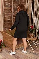 Стильне жіноче спортивне плаття з капюшоном (Батал), фото 8
