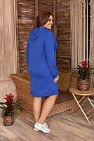 Стильне жіноче спортивне плаття з капюшоном (Батал), фото 9