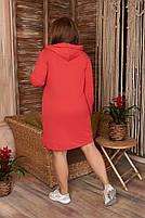 Стильне жіноче спортивне плаття з капюшоном (Батал), фото 10