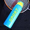 Термос питьевой с трубочкой для спорта 500мл 24см Синий