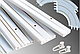 Карниз усиленный потолочный одинарный 1,50 метра (КСМ, КС), стоимость карниза за комплект., фото 3