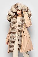 """Зимняя женская куртка парка """"SIFURS"""" натуральный мех, утепленная, водоотталкивающая пропитка"""