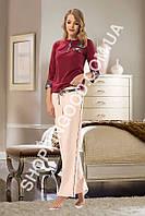 Женская пижама Shirly 5909, домашний костюм с брюками цена со склада