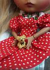 Сукня червоне в горошок для ляльки Блайз, Айсі, фото 6
