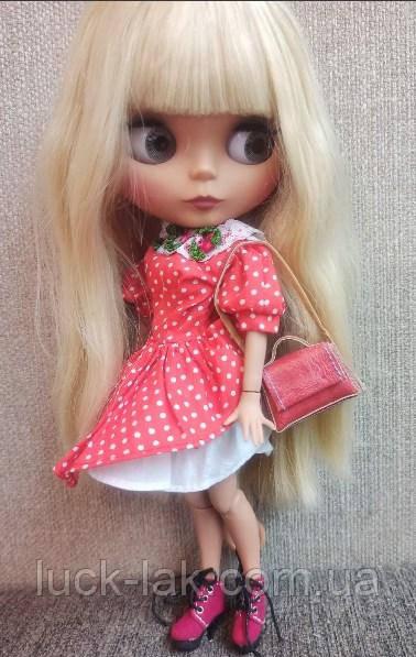 Сукня червоне в горошок для ляльки Блайз, Айсі