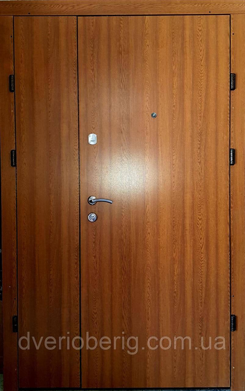Входная дверь двустворчатая  Т1 дуб золотой