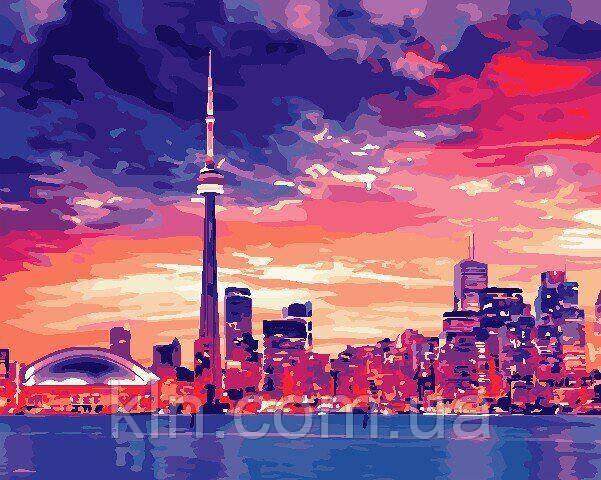 Картина по номерам ArtStory Ночной Торонто 40 х 50 см (арт. AS0689)