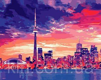 Картина за номерами ArtStory Нічний Торонто 40 х 50 см (арт. AS0689)