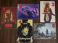 Картины на игровую тематику PS4, сувенир либо подарок для геймера god of war, doom, cyberpunk, last of us и др