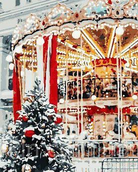 Картина за номерами ArtStory Різдвяна карусель 40 х 50 см (арт. AS0700)