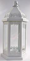 Декоративный фонарь белый 27 см CL859