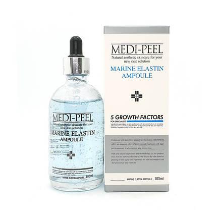 Ампульная сыворотка с морским эластином Medi-Peel Marine Elastin Ampoule 5 growth factors,100 мл., фото 2