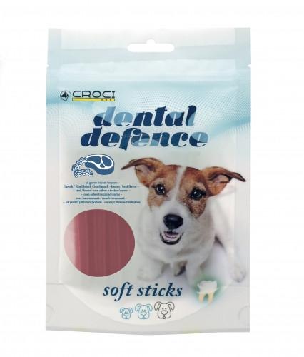 Лакомства для собак для чистки зубов со вкусом говядины и бекона CROCI DENTAL  80 г