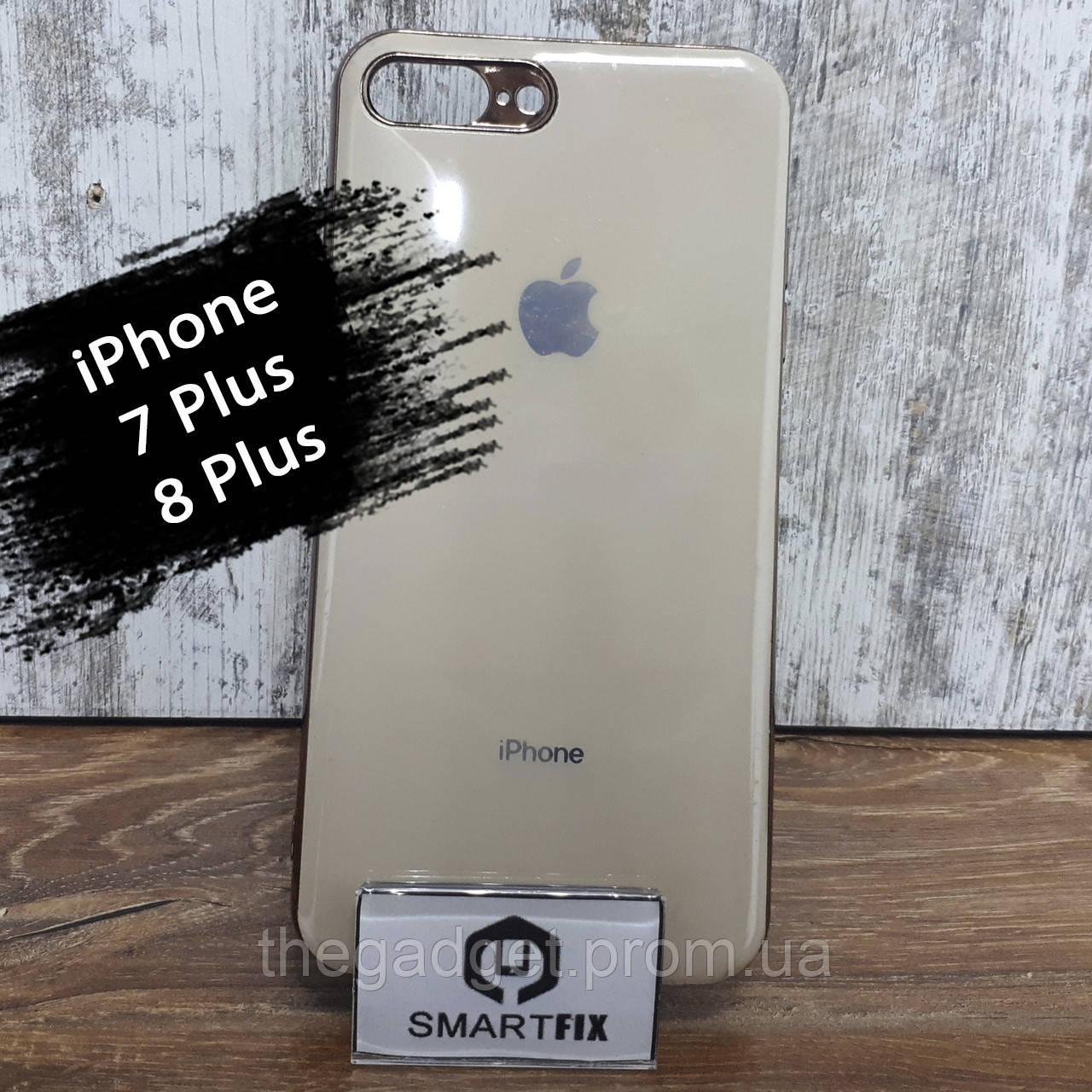 Силиконовый чехол для iPhone 7 Plus / iPhone 8 Plus Glossy Logo Золотой