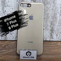 Силиконовый чехол для iPhone 7 Plus / iPhone 8 Plus Glossy Logo Золотой, фото 1