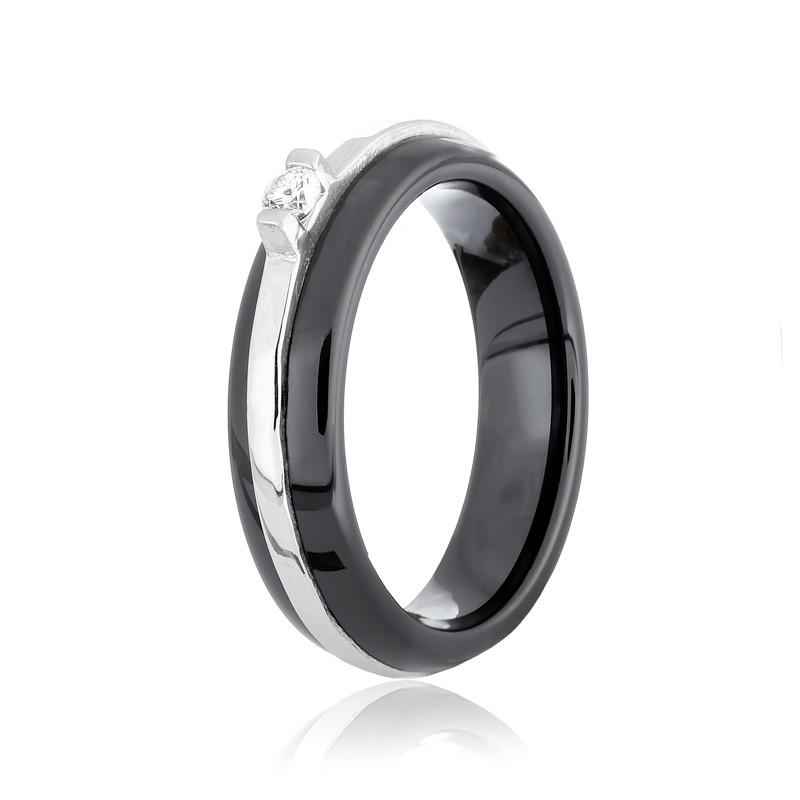 Серебрянное кольцо родированное К2ФК/1002-16