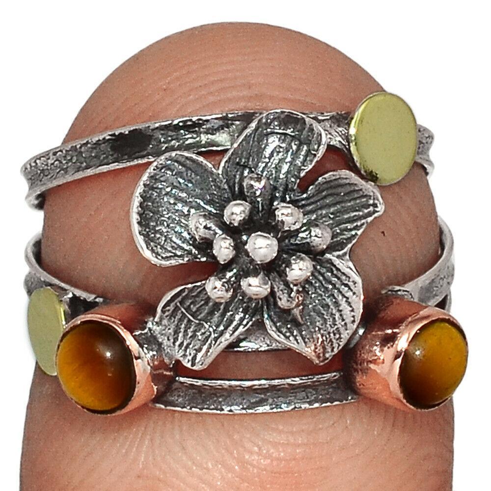 Серебряное кольцо с тигровым глазом, 2455КЦТ