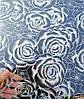 Мягкое стекло Силиконовая скатерть на стол Soft Glass 1.4х0.8м (Толщина 1.5мм) Серебристые розы, фото 4