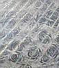 Мягкое стекло Силиконовая скатерть на стол Soft Glass 1.4х0.8м (Толщина 1.5мм) Серебристые розы, фото 5