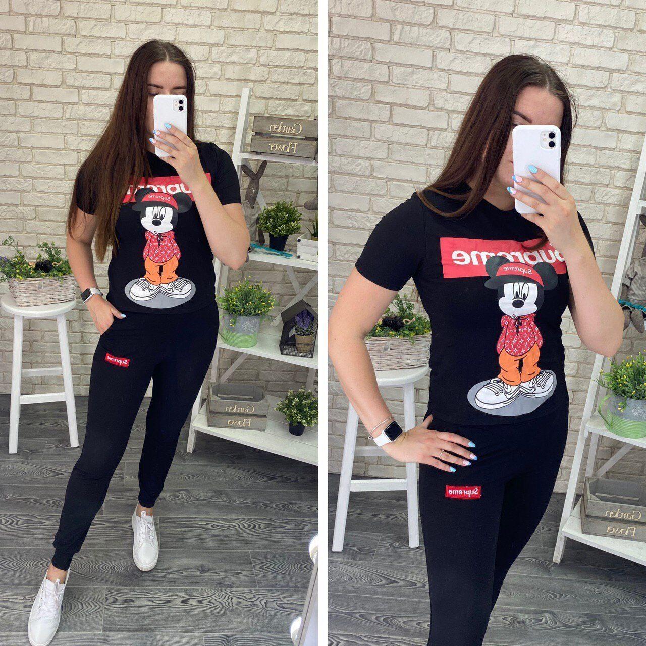 """Шикарный женский костюм-двойка """"футболка+Брюки"""" ткань """"Трикотаж"""" 44, 46 размер 44"""