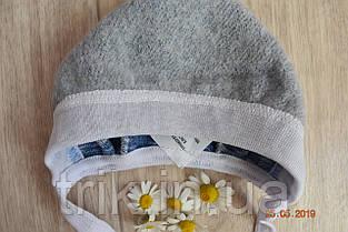 Чепчик для новорожденного TRIK теплый голубой, фото 2