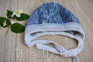 Чепчик для новорожденного TRIK теплый голубой, фото 3