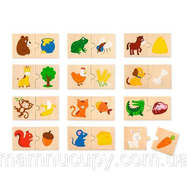 Логический пазл Viga Toys Что едят зверушки, 24 эл. (51607)