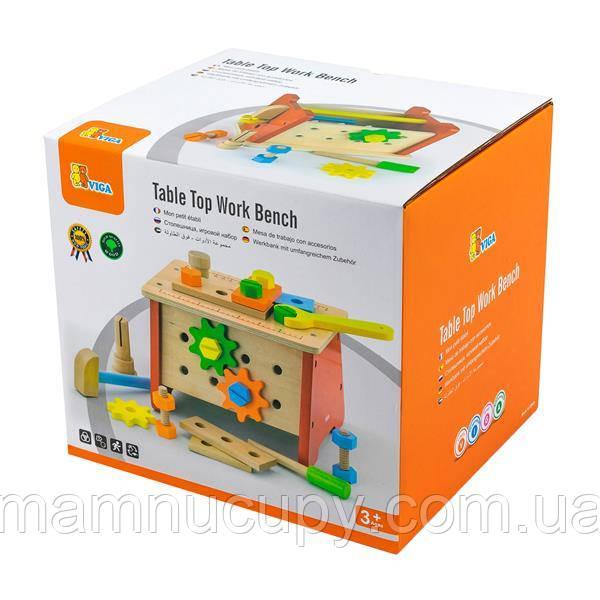 Деревянный игровой набор Viga Toys Верстак с инструментами (51621)
