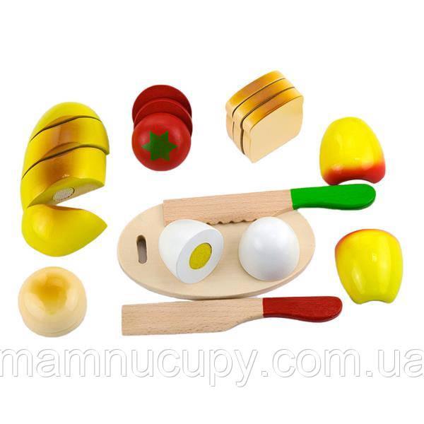 Игрушечные продукты Viga Toys Нарезанная еда из дерева (56219)