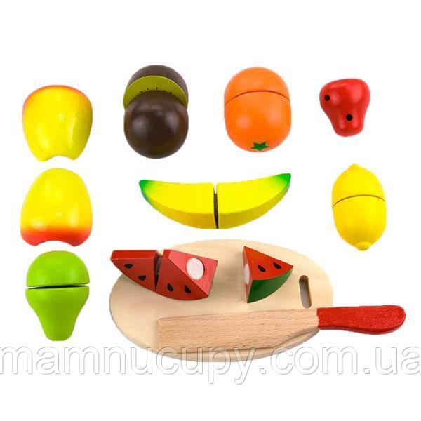 Игрушечные продукты Viga Toys Нарезанные фрукты из дерева (56290)