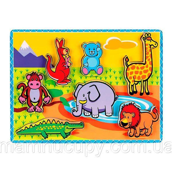 Деревянная рамка-вкладыш Viga Toys Зверушки (56435)