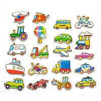 Набор магнитов Viga Toys Транспорт, 20 шт. (58924)