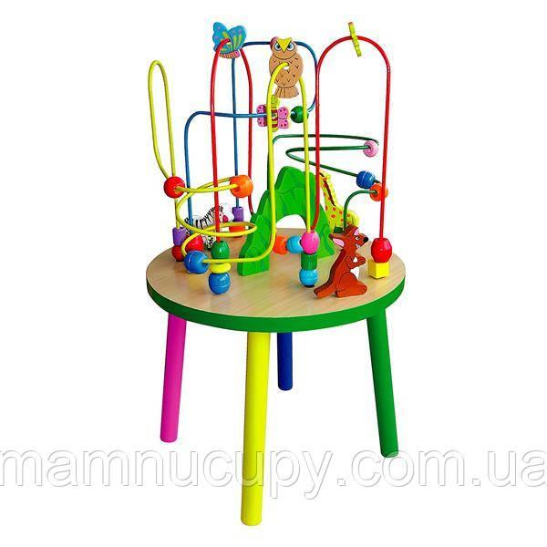 Дерев'яний ігровий центр Viga Toys Столик з лабіринтом (50671)