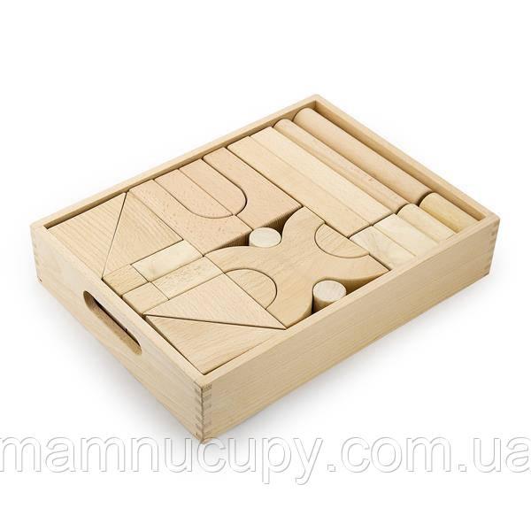 Деревянные строительные кубики Viga Toys неокрашенные, 48 шт. (59166)