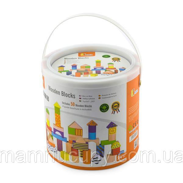 Дерев'яні кубики Viga Toys Візерунчасті блоки 50 шт., 3 см (59695)