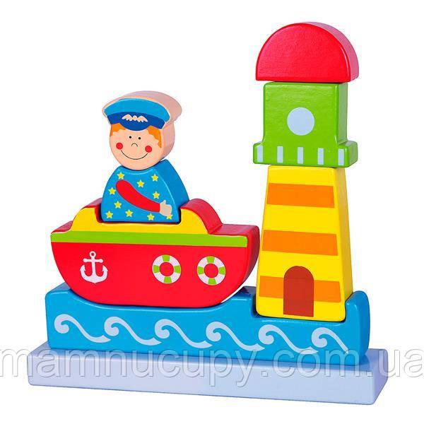 Магнитная деревянная игрушка Viga Toys Море (59704)