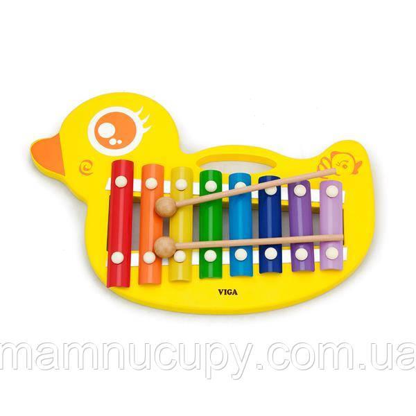 Музыкальная игрушка Viga Toys Ксилофон-утенок (59769)