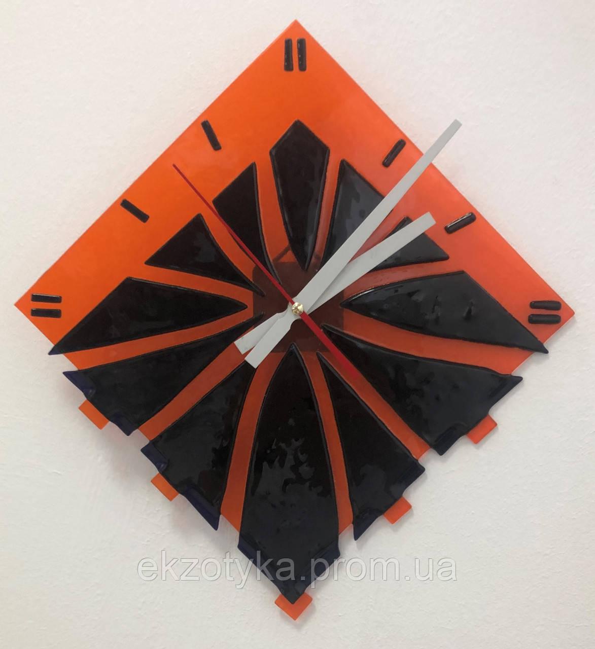 Часы стеклянные настенные фьюзинг